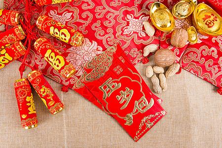 喜庆氛围春节压岁红包图片