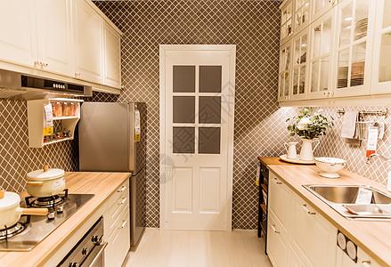 家居商场文艺厨房展位陈列高清图片