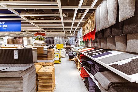 家居商场地毯展位陈列图片