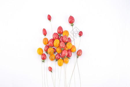 圣女果气球背景图图片