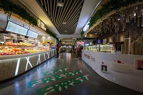 商场小吃通道图片
