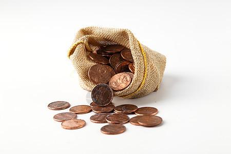 一袋钱币图片