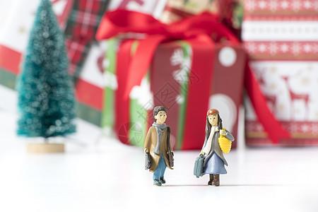 新年圣诞一起旅行的情侣图片