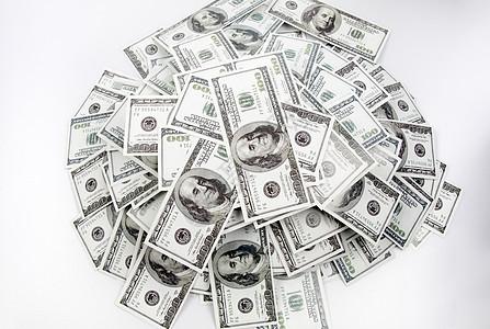 成堆的美钞图片