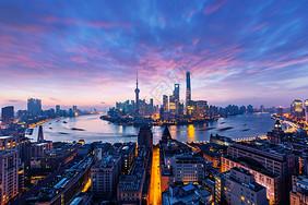 城市夜景不夜城上海陆家嘴图片