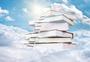 云端上的书籍图片