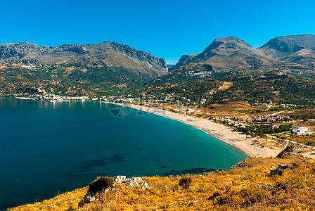 美丽的环山海景图片