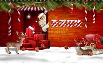 圣诞元旦促销背景图片