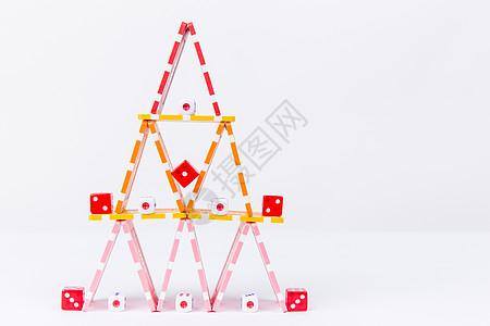团队合作筹码骰子创意摆拍图片