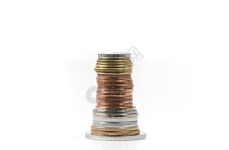一叠硬币图片