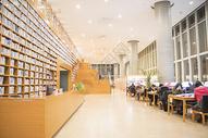敞亮的图书馆大场景图片