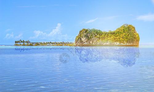 像吉他一样的岛屿图片