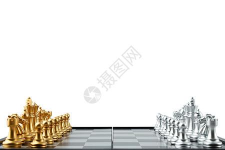 金属质感金银色国际象棋图片