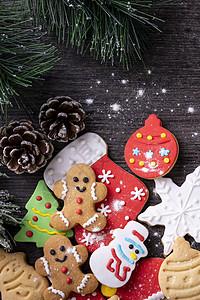 圣诞节日礼品姜饼人糖霜手工饼干图片