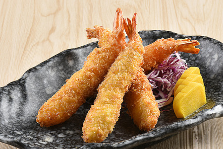 日式料理油炸虾图片