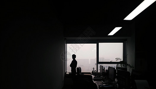 一个人雾霾成都孤独图片