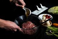 包饺子 手工煎饺 包饺子过程图片