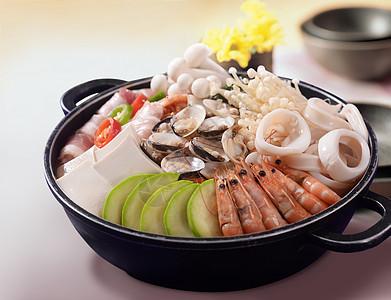韩式泡菜海鲜锅图片