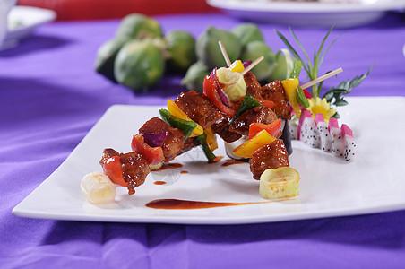 韩式烤肉串图片