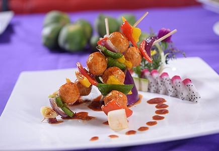 韩式鱼丸串图片