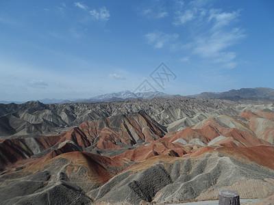 蓝天大漠风景图片