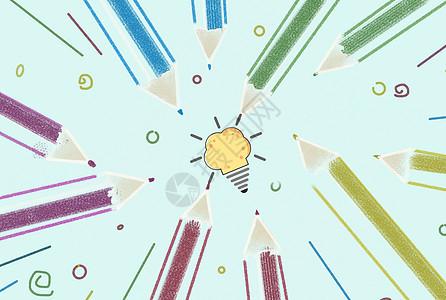 简约灯泡和小图标图片