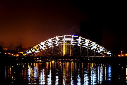 天津夜景奉化桥图片