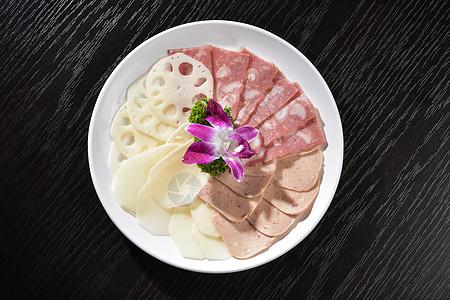培根莲藕土豆午餐肉图片
