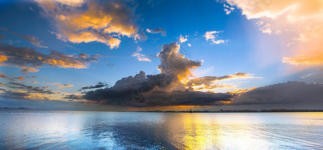 夕阳与云图片