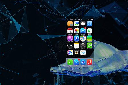 无边框科技透明手机图片