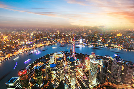 上海的一景金融中心图片