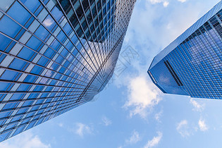 蓝天白云陆家嘴大气建筑图片