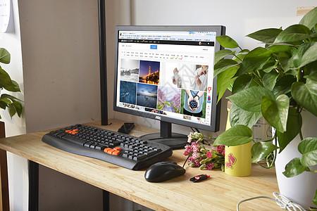 办公桌电子计算机白领图片