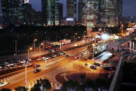 夜幕中的陆家嘴金融中心图片