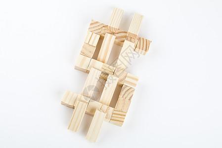 金融符号概念积木图片