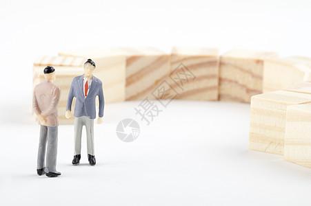 商务谈判思考交流图片