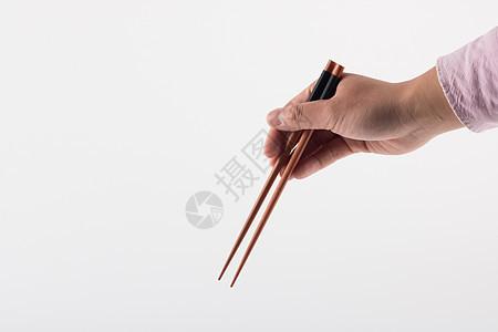 拿筷子特写图片