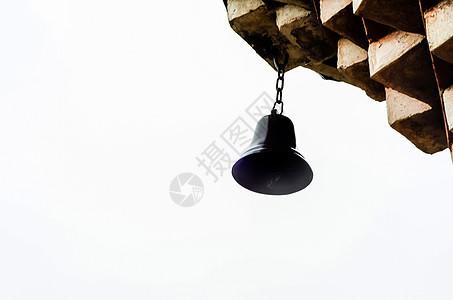 东方元素屋檐下的灯铃图片