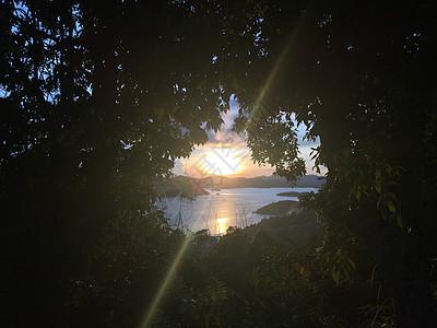 菲律宾科隆岛夕阳图片