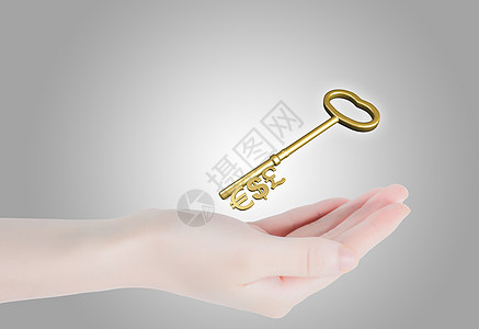 手掌上的钥匙图片