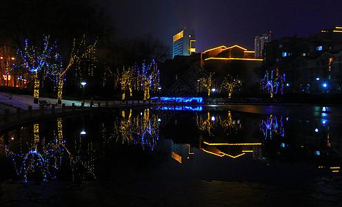 流光溢彩春节夜图片