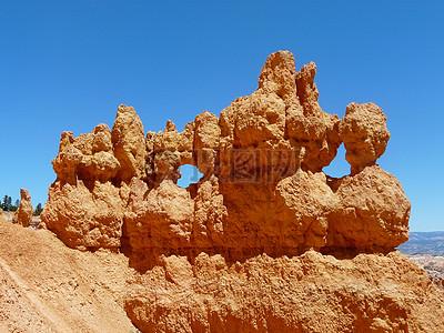 沙漠里的红砂岩图片