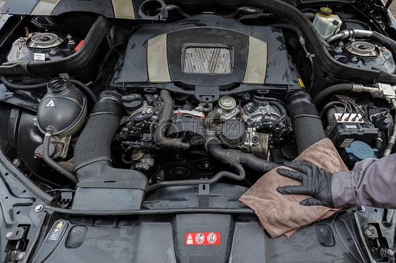 洗车养车汽车美容保养图片