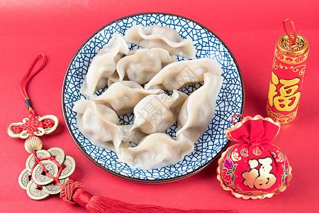 中国年传统美食水饺图片