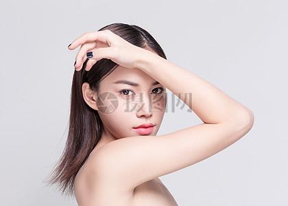 商业精修人像妆容美肤展示图片