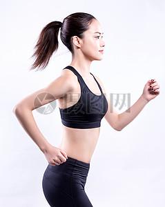 商业精修活力女孩运动跑步图片