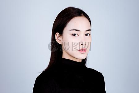 亚洲简单干净素颜妆面图片