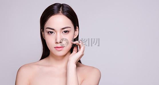 商业人像妆容美肤展示图片