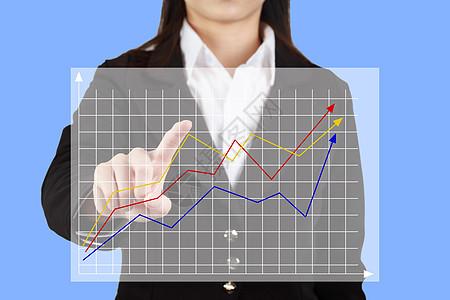 商务人士和虚拟现实的科技背景图片