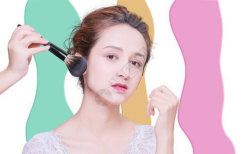 通过化妆和护肤美容图片